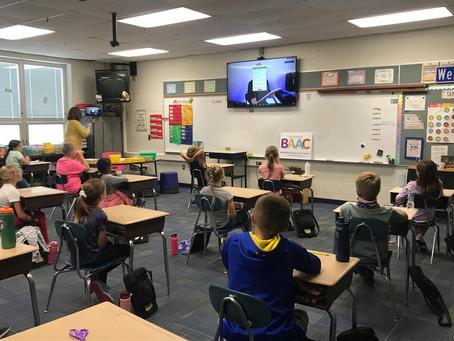Dr. Blake Brandes visits Batesville Intermediate School