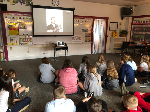 Mike Mains visits St. Louis Schools Virtually