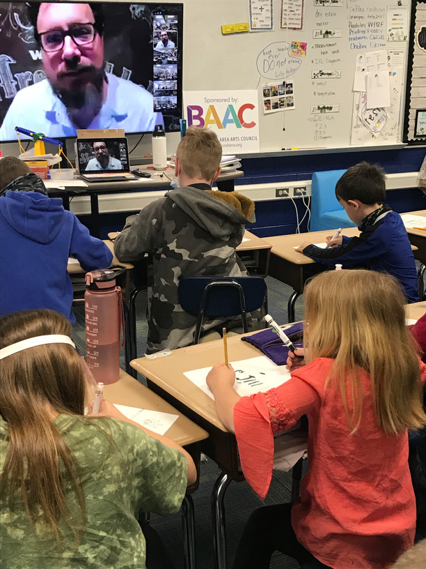 Author and Illustrator Jeffrey Ebbeler visits BPS and BIS virtually
