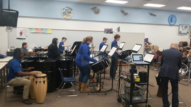 Music Professors Work with BMS and BHS Steel Drum Band