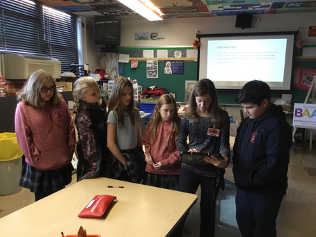 Mrs. Raver visits St. Louis schools for a photography workshop