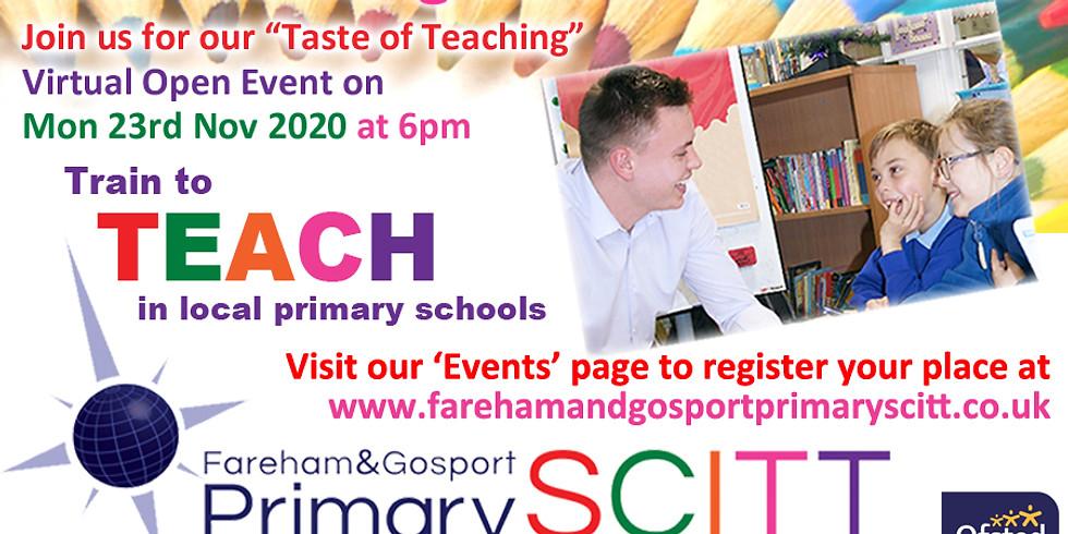 """Train to Teach - """"Taste of Teaching"""" Virtual Open Event"""