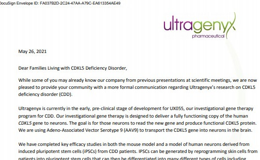CDKL5遺伝子欠損症(CDD)治療の希望!
