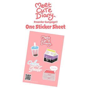 MEET CUTE DIARY Preorder Campaign Sticke