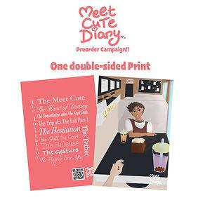 MEET CUTE DIARY Preorder Campaign Print.