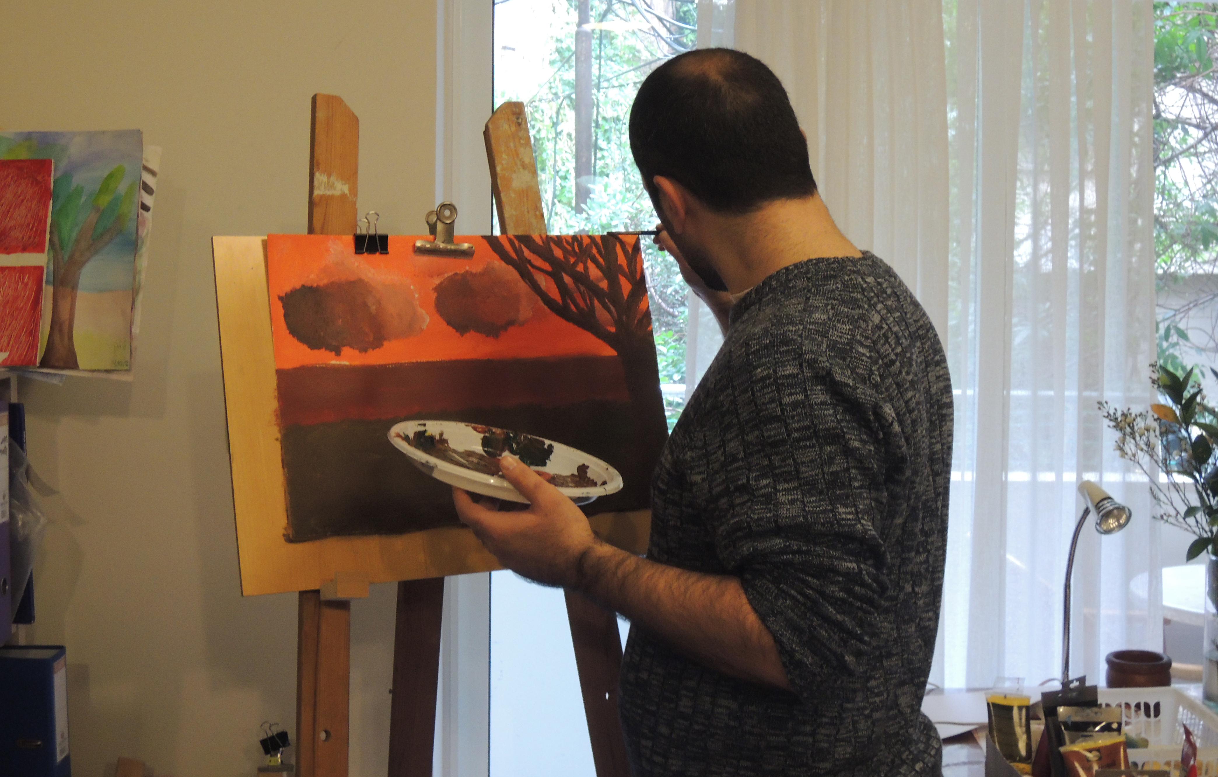 בציור