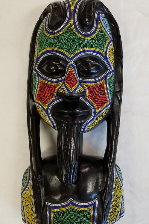 Chief/Queen Beaded Decorative Mask Set