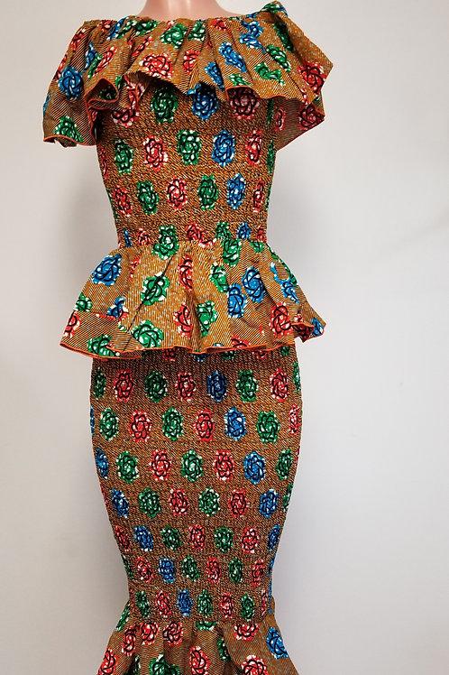 Elastic Two Piece Skirt Set D