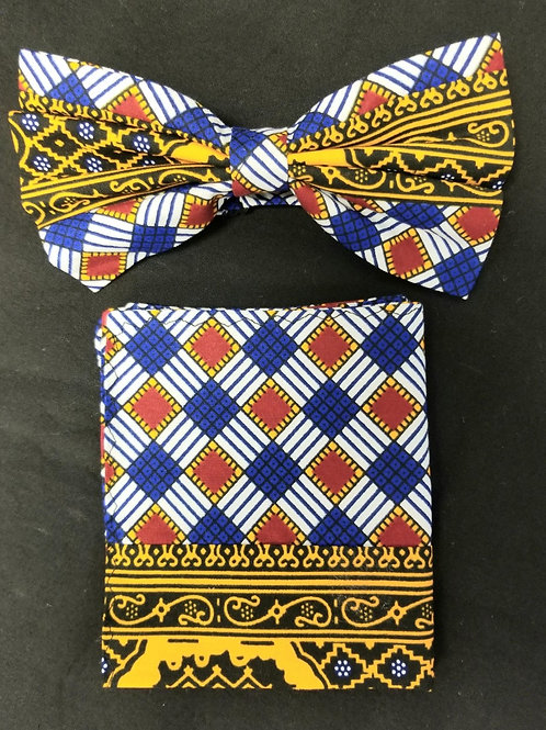 Bow tie w/Pocket Square Set - 2