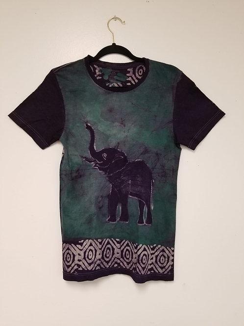 Elephant-Raised Trunk-Batik Tee