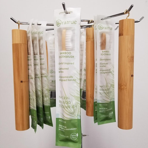 Bamboo Case/Toothbrush Combo Set