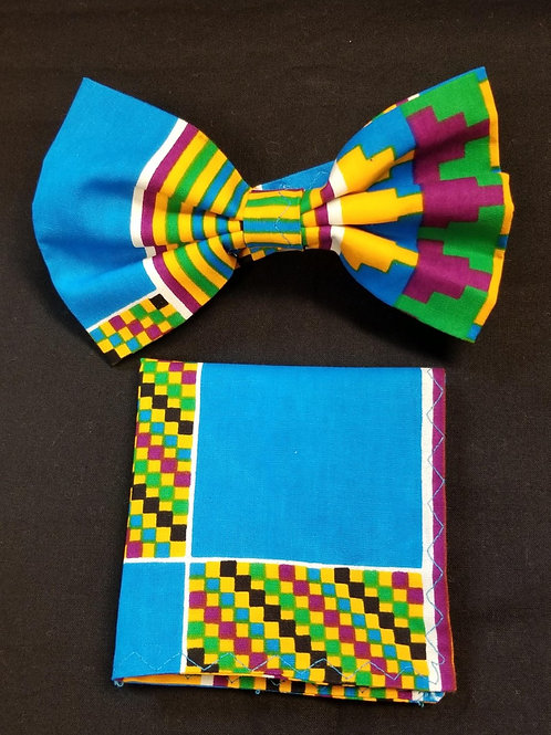 Bow tie w/Pocket Square Set - 4