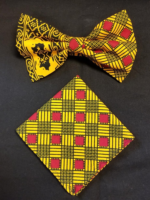 Bow tie w/Pocket Square Set - 5