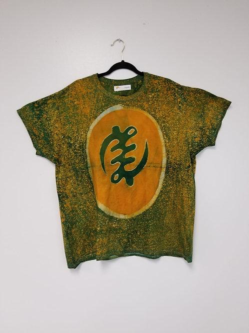 Gye Nyame Batik Tee Yellow/Green
