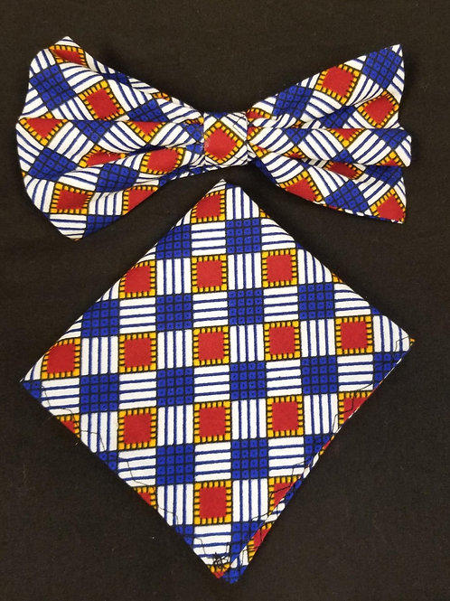 Bow tie w/Pocket Square Set - 1