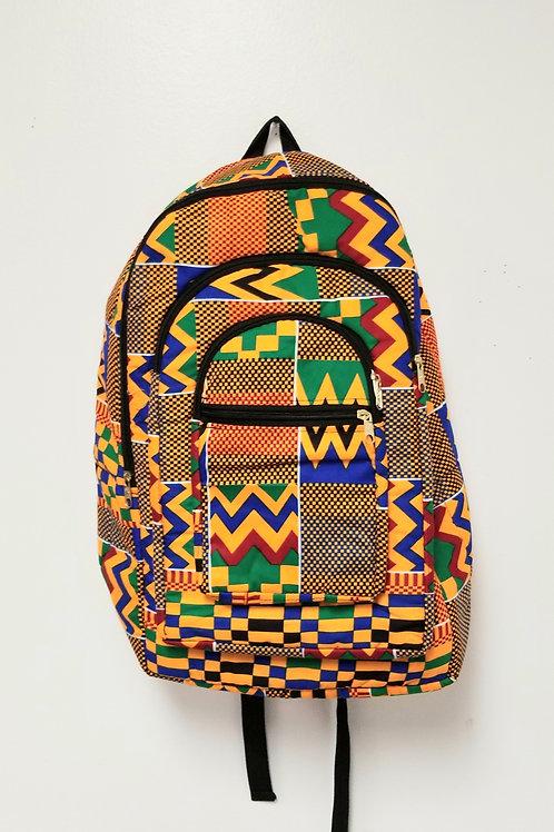 Backpack, Cloth - Kente Print