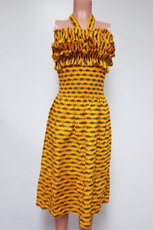 Yellow African Dress