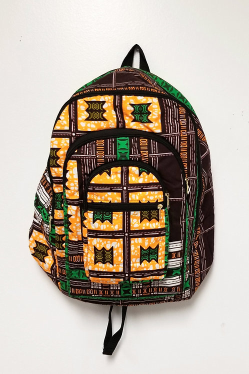 Backpack, Cloth - Kente Print