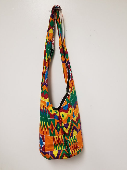 Hippie/Beach Bag (Kente Cloth)