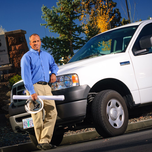 Corporate Portrait of the President of SunWest Builders, a commercial and residential developer in Central Oregon.
