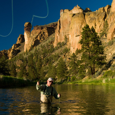 Fly fishing on Crooked River