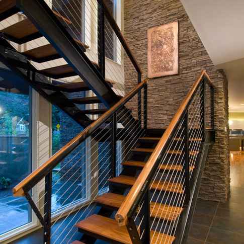 Contemporary staircase photographed by architecture photographer Timothy Park