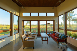 Contemporary Living Room in Bend Oregon