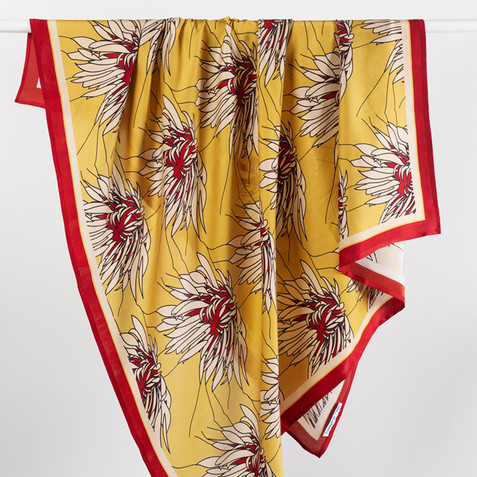 Full Bloom square scarf_Morag Macpherson