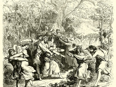 Judges 21:20, 21:  Plan to Seize the Dancing Girls of Shiloh