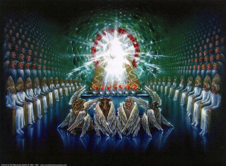 Poole on Revelation 4:3:  Glory of the Covenant God