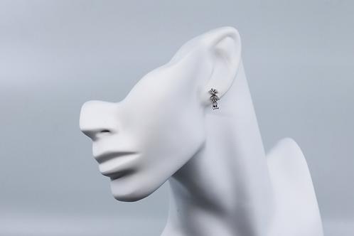 Floral Tear Drop Earrings