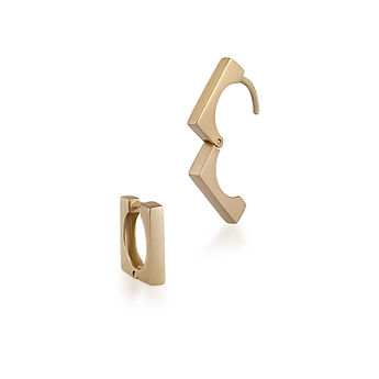 MADI sterling silver earring - gold plated