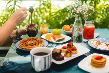 Café da manhã do Kembali Hotel