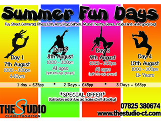 Summer Fun Days are back!