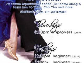 New Adult Classes starting in September!