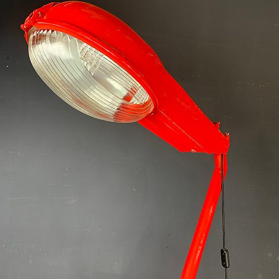 Vintage Srtraßenlaternen-Lampe | 70/80er Jahre | aufgearbeitet | Rot