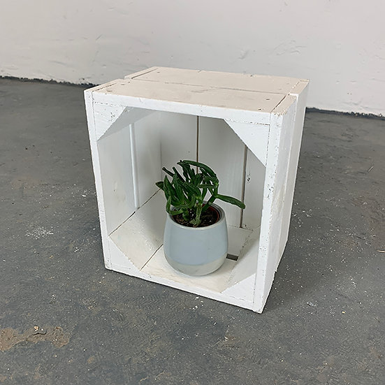 """Neue weiße Mini-Kiste """"Liebenwalde"""" 21x20x15cm"""