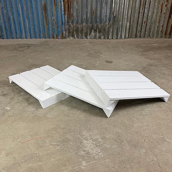 3er Set Neuer weißer Regalboden | 38 x 29 cm