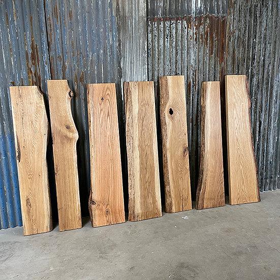 Massives Eichenbrett mit Baumkante   Geölt   gehobelt   ca. 120 cm