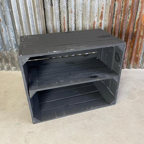 """Neue schwarze Holzkiste """"TXL Terminal B"""" 50x40x30cm"""