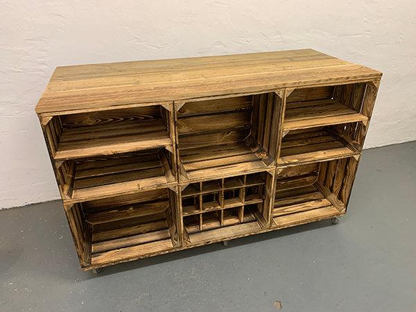 "Doppelseitiges Massiv-Sideboard ""Elmar"" | 150x91x60cm"
