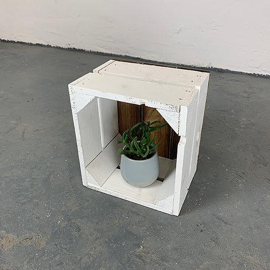 """Neue weiß-Geflammte Mini-Kiste """"Schorfheide"""" 21x20x15cm"""
