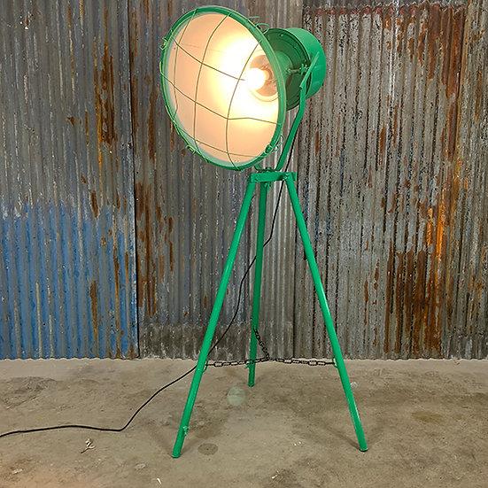 Vintage Industrielampe | 70/80er Jahre | aufgearbeitet | Grün