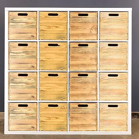 Geflammte Holzkiste für Kallax/Expedit-Regale   33x37,5x32,5cm