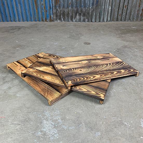 3er Set Neuer geflammter Regalboden | 48 x 29 cm