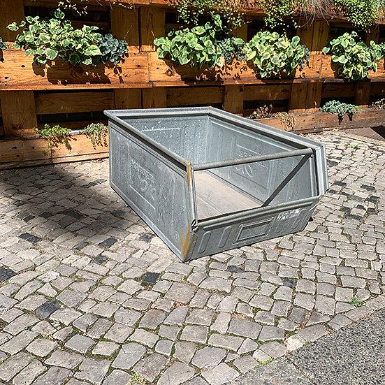 Vintage Sichtlagerkasten grau 75x50x30