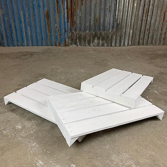 3er Set Neuer weißer Regalboden | 48 x 29 cm