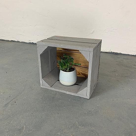 "Neue grau-Geflammte Mini-Kiste ""Tegeler Flies"" 21x20x15cm"