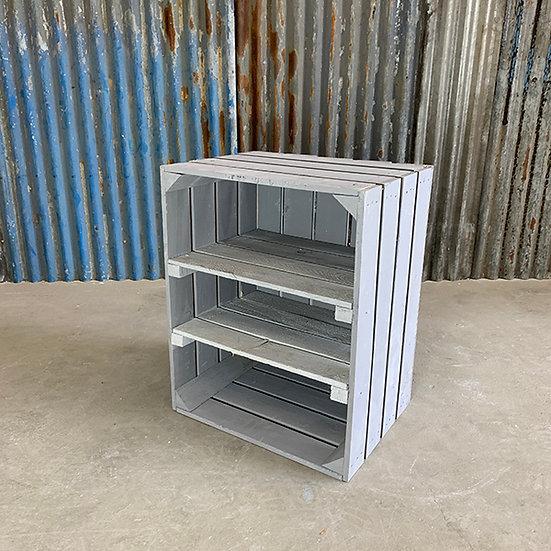 "Neue graue Kiste ""Herzberg"" 40x50x30cm"