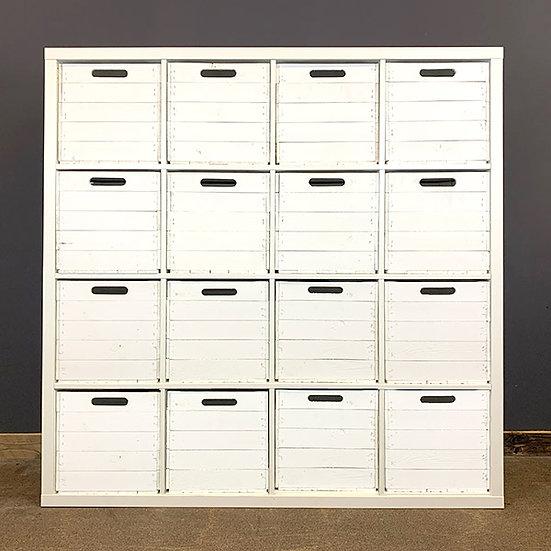 Weiße Holzkiste für Kallax/Expedit-Regale | 33x37,5x32,5cm